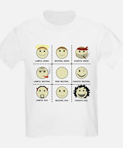Face Alignment Chart (Black Text) T-Shirt