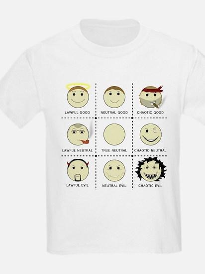 Face Alignment Chart (Black Text) T-Shirt