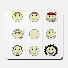 Face Alignment Chart (White Text) Mousepad