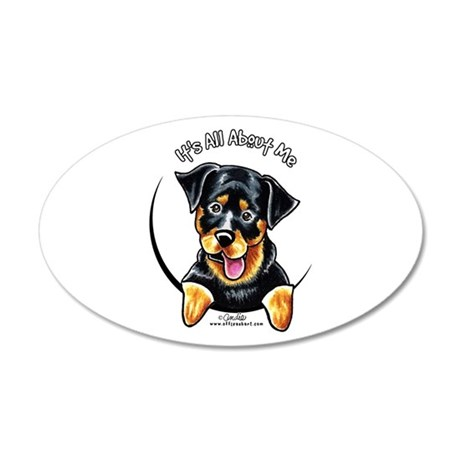 Rottweiler IAAM 20x12 Oval Wall Decal