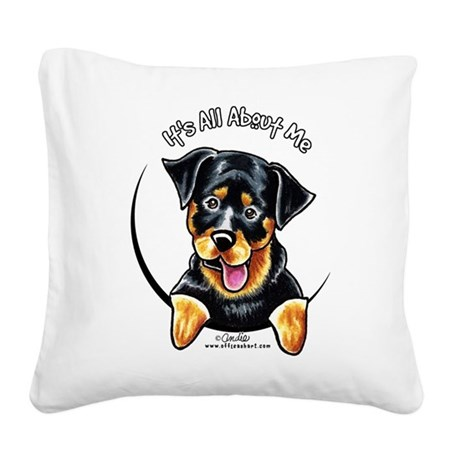 Rottweiler IAAM Square Canvas Pillow