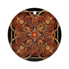 Orange Celtic Tapestry Ornament (Round)