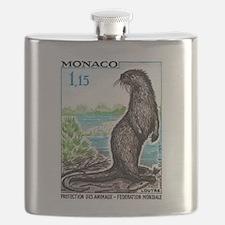 1970 Monaco Otter Postage Stamp Flask