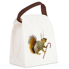 Reindeer Squirrel Canvas Lunch Bag
