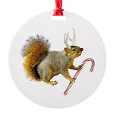 Reindeer Squirrel Ornament