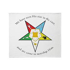 Eastern Star Matthew 2:2 Throw Blanket