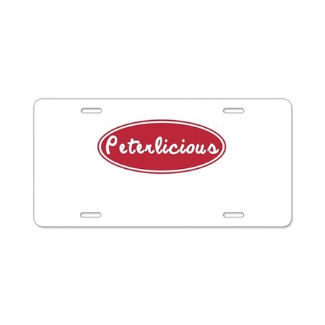 Peterlicious Aluminum License Plate