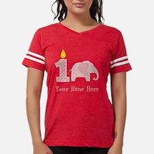 First Birthday Girl Elephant Womens Football Shirt