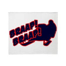 Braap Braap Throw Blanket