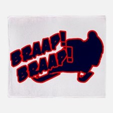 Braap Braap Throw Blanket
