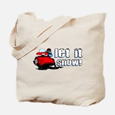 Let It Snowmobile Tote Bag