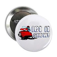"""Let It Snowmobile 2.25"""" Button"""