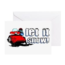 Let It Snowmobile Greeting Card