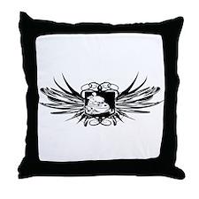 Snowmobile Crest Throw Pillow