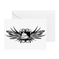 Snowmobile Crest Greeting Card