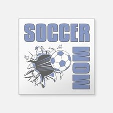 "Soccer Mom Square Sticker 3"" x 3"""