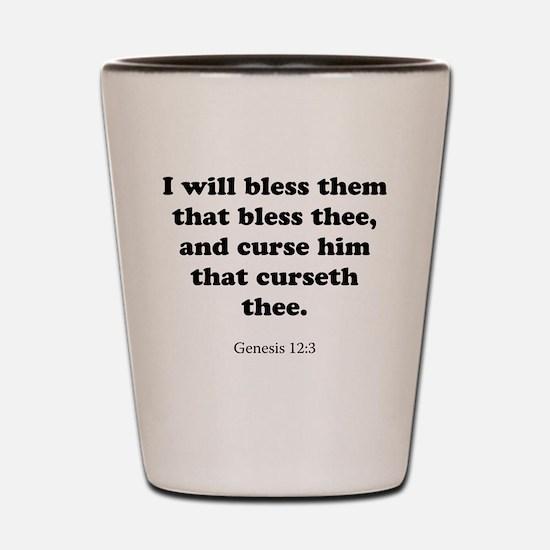 Genesis 12:3 Shot Glass