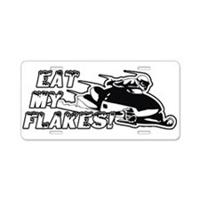 Eat My Flakes Aluminum License Plate