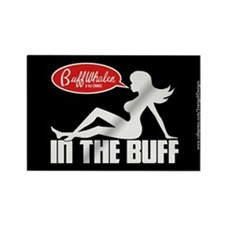 In the Buff Mudflap Girl Rectangle Magnet