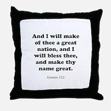Genesis 12:2 Throw Pillow