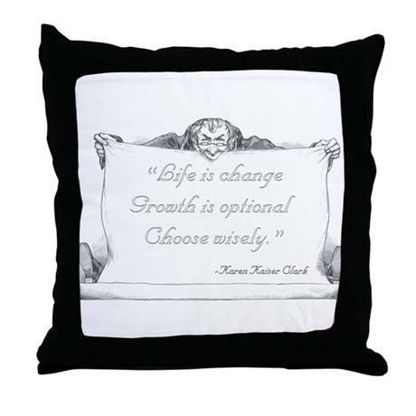 Life is change. Throw Pillow