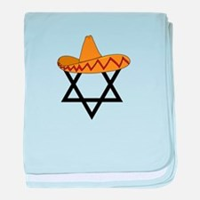 A Jew and a Mexican Star of Sanchez baby blanket