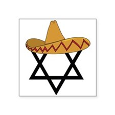 A Jew and a Mexican Star of Sanchez Square Sticker