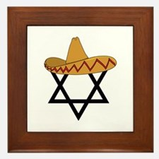 A Jew and a Mexican Star of Sanchez Framed Tile