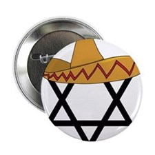 "A Jew and a Mexican Star of Sanchez 2.25"" Button"