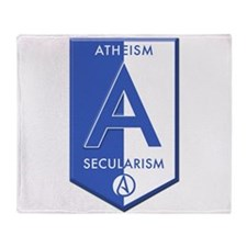 Atheism Secularism Throw Blanket