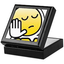 cba bbm smiley Keepsake Box