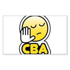 cba bbm smiley Decal