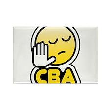 cba bbm smiley Rectangle Magnet