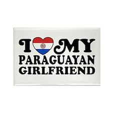 I Love My Paraguayan Girlfriend Rectangle Magnet