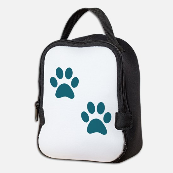 Two Paws Teal Neoprene Lunch Bag