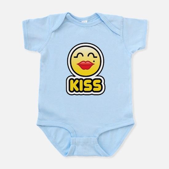 kiss bbm smiley Infant Bodysuit