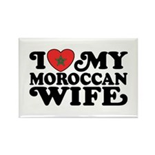 I Love My Moroccan Wife Rectangle Magnet
