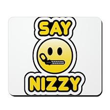 say nizzy bbm smiley Mousepad