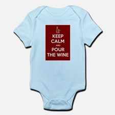 KEEP CALM AND POUR THE WINE Infant Bodysuit