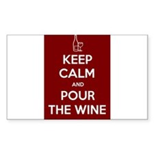 KEEP CALM AND POUR THE WINE Decal