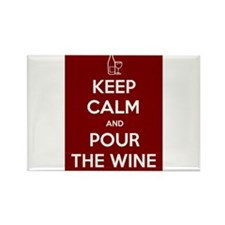 KEEP CALM AND POUR THE WINE Rectangle Magnet