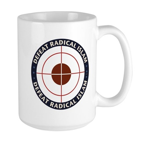 Defeat Radical Islam Large Mug