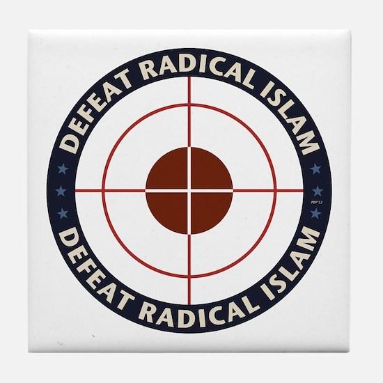 Defeat Radical Islam Tile Coaster