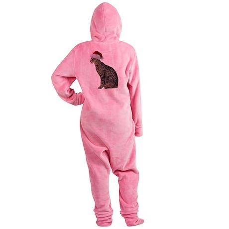 FIN-savannah-cat-santa.png Footed Pajamas