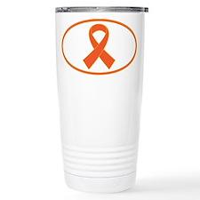Orange Awareness Ribbon Travel Mug