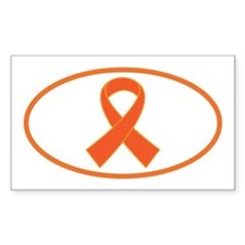 Orange Awareness Ribbon Decal