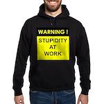 3-stupidityatworkblk.png Hoodie (dark)