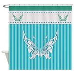 Butterfly Deisgn Shower Curtain