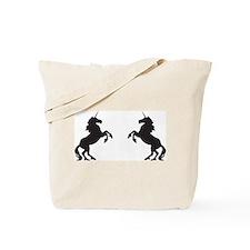 Twin Unicorns Tote Bag