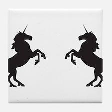 Twin Unicorns Tile Coaster